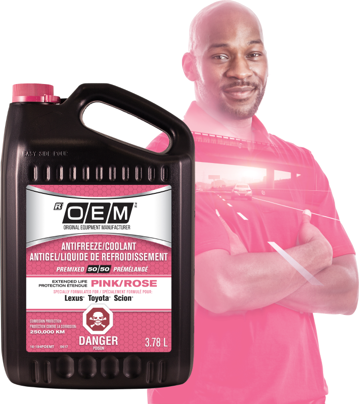 OEM Extended Life PINK Antifreeze/Coolant